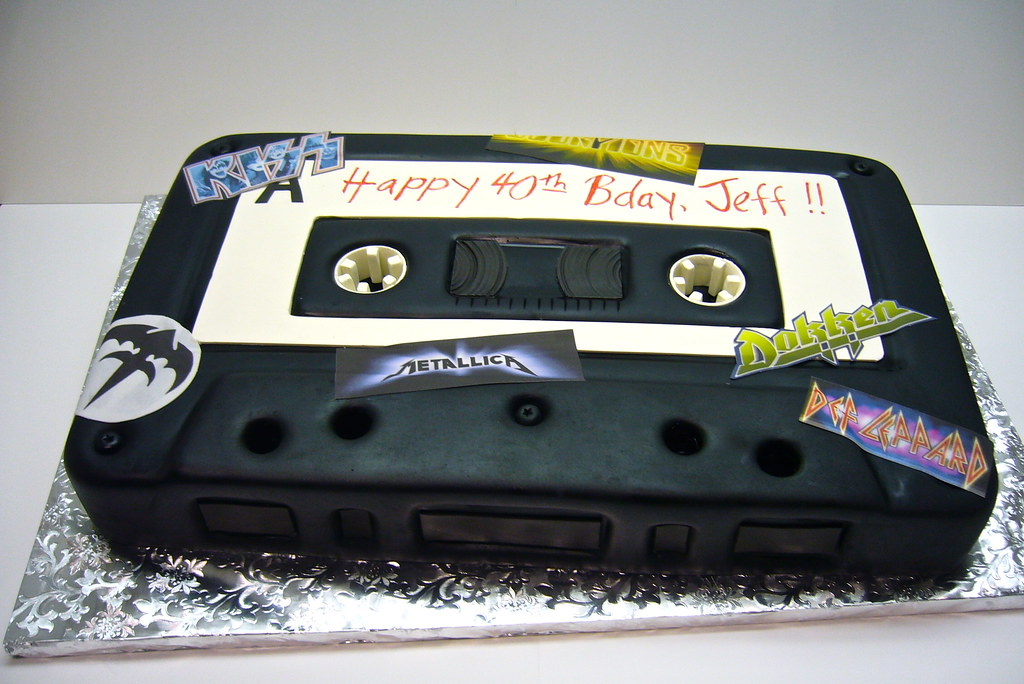 How To Make A Cassette Tape Cake