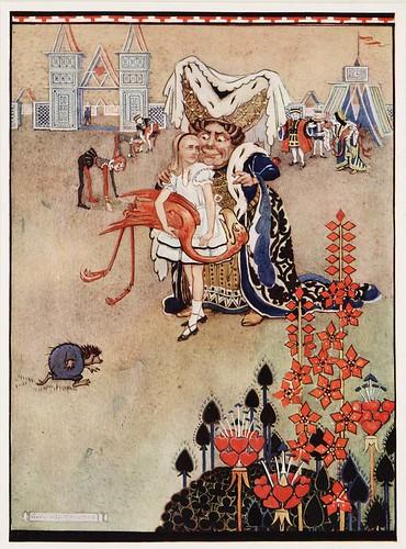 alice in wonderland  illustrator  hudson  1922   croquet w u2026