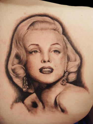 marilyn monroe portrait tattoo miguel angel custom tattoo flickr. Black Bedroom Furniture Sets. Home Design Ideas