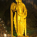 Lord Murugan, glitterting in Gold at the entrance of BatuCaves, Malaysia