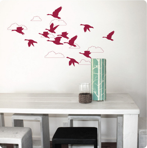 geese wall sticker/decal | by birds & trees