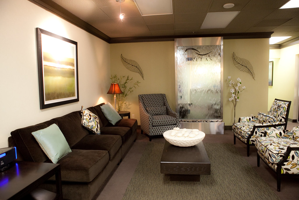 Dallas Medical Spa Reception Reception Waiting Area
