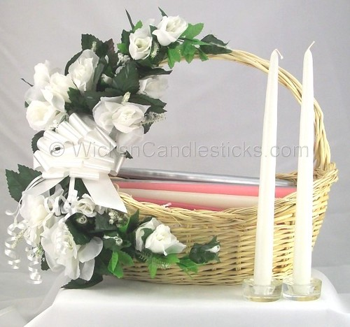 How To Make Wedding Gift Basket : Bridal Poem Candle Gift Basket WicksnCandlesticks Bridal P ...