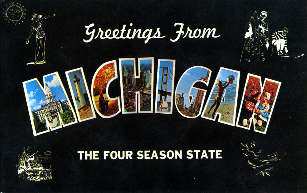 Greetings from michigan the four season state large let flickr greetings from michigan the four season state large letter postcard by shook photos m4hsunfo