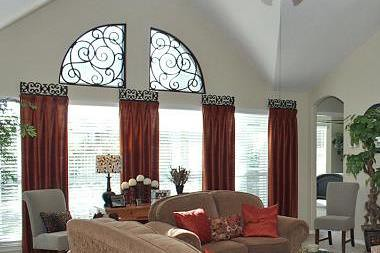 Faux Wrought Iron Arched Window Treatment The Transom