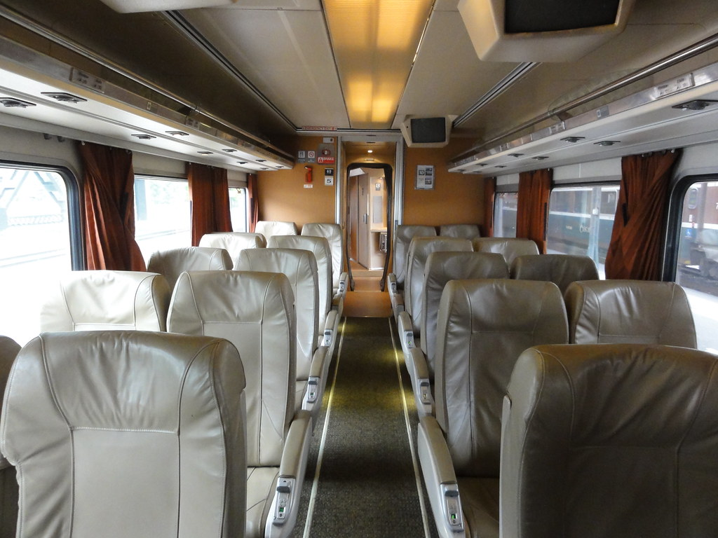 New Carriage Seat ~ Amtrak cascades wider seats and greater pitch than any