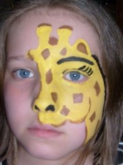 giraffe face painting the finest in children 39 s party enter flickr. Black Bedroom Furniture Sets. Home Design Ideas