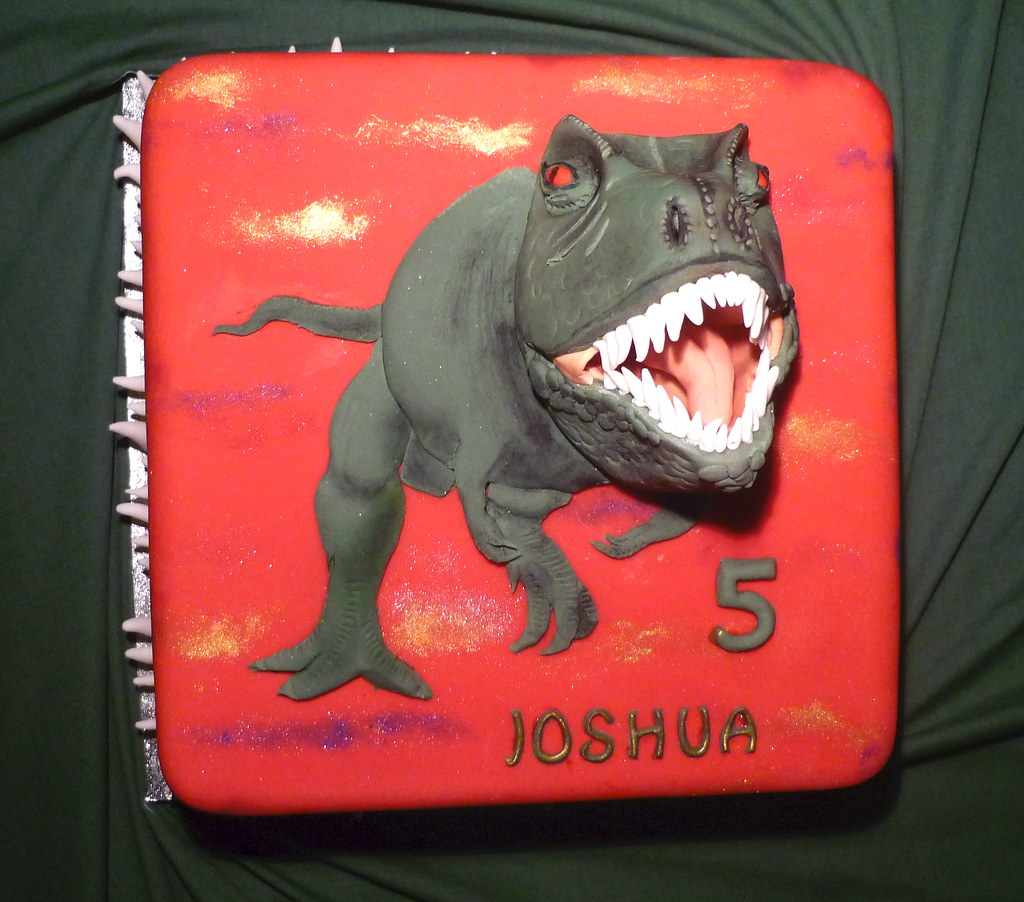 Joshua Ss Trex cake 3D trex head These are always a hi Flickr