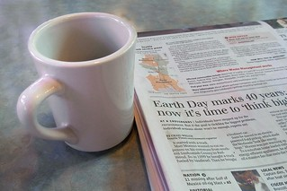 Newspaper and coffee | by Tony Cyphert