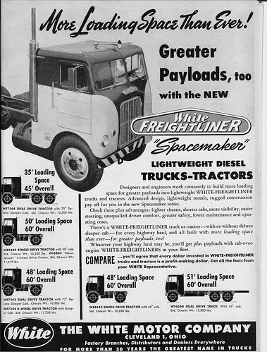 1955 White Freightliner Spacemaker Back When