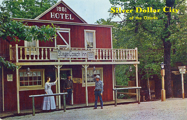 silver dollar city postcard 1881 hotel stage coach inn. Black Bedroom Furniture Sets. Home Design Ideas