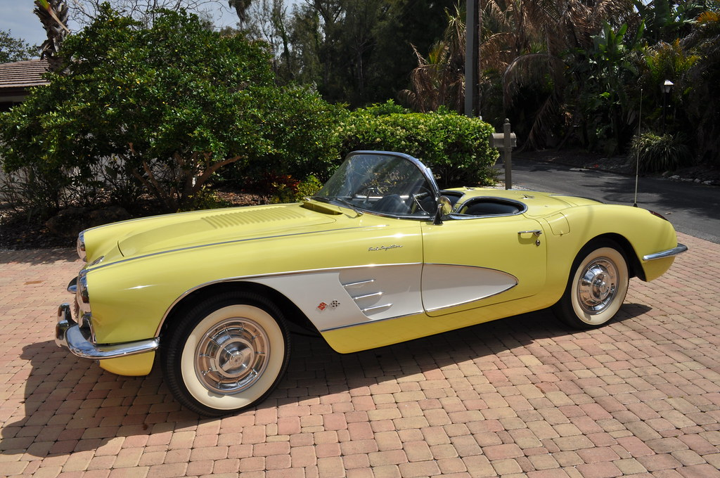 classic corvettes for sale side view 1958 corvette for s flickr. Black Bedroom Furniture Sets. Home Design Ideas