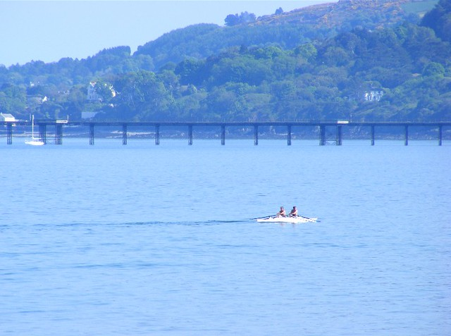 rowing in Ramsey Bay