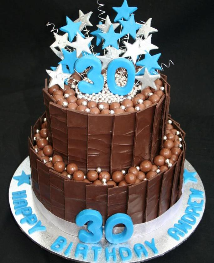 Cake Ideas For Husband S 30th Birthday : 30th Birthday Cake I made this 30th Birthday Cake for my ...