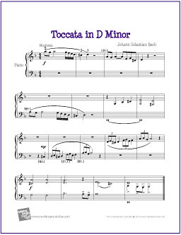 Songs In D Minor : toccata in d minor bach free sheet music for easy pian flickr ~ Hamham.info Haus und Dekorationen