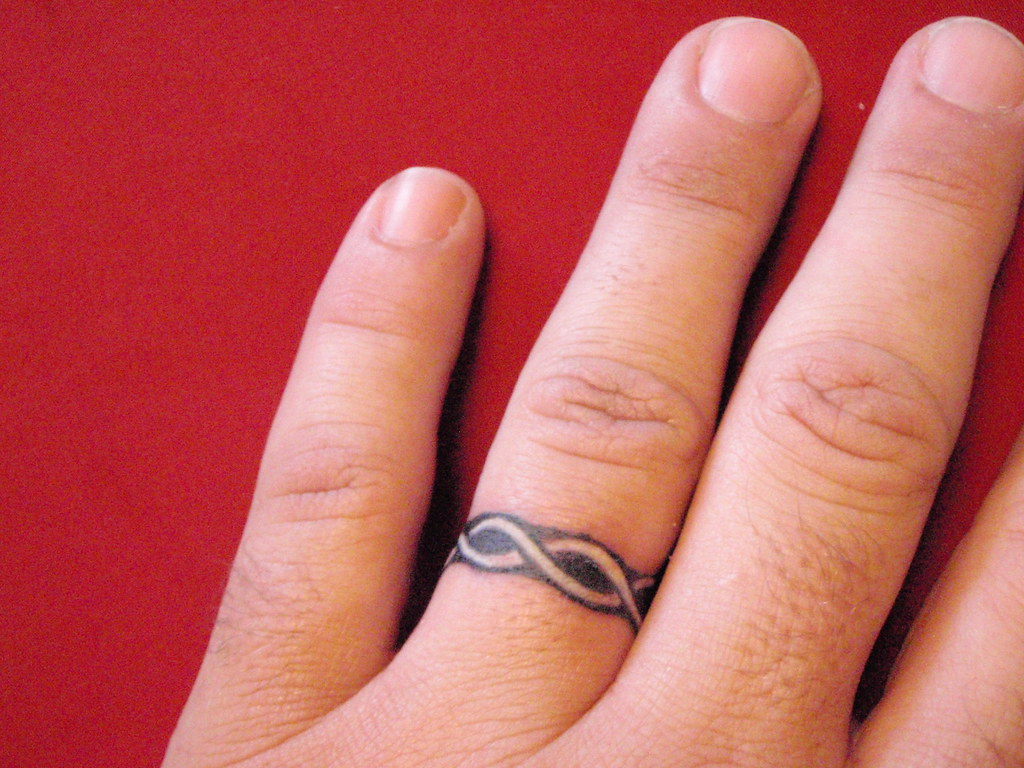 White Ink Tattoos Wedding Ring: Marriage Is A Life Time Commitment! I Love