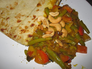 Vegetable Curry and Pita | by veganbackpacker