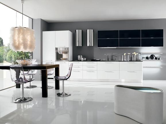 cucina pensili vasistas | cucina lineare moderna l.510 cm fi? | flickr - Cucine Arredissima