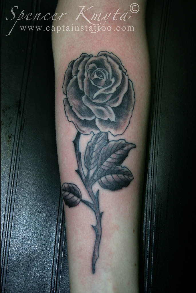 Long Stem Rose Tattoo Spencerkmyta Flickr