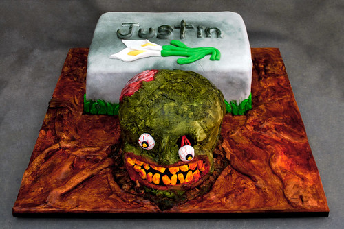 Justin's Halloween Birthday Cake | by creationsbyskip