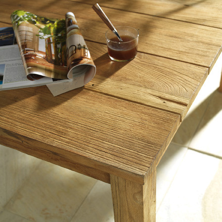 Une table de bois brut castorama flickr for Table bois brut