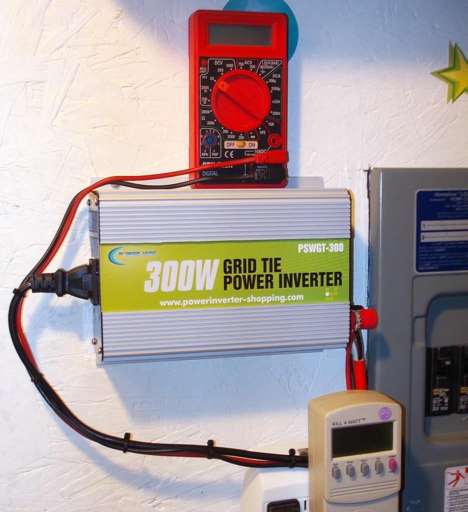 Installation Grid Tie Inverter Multimeter Kill A Watt M