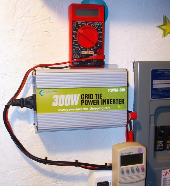 Installation Grid Tie Inverter Multimeter Kill A Watt