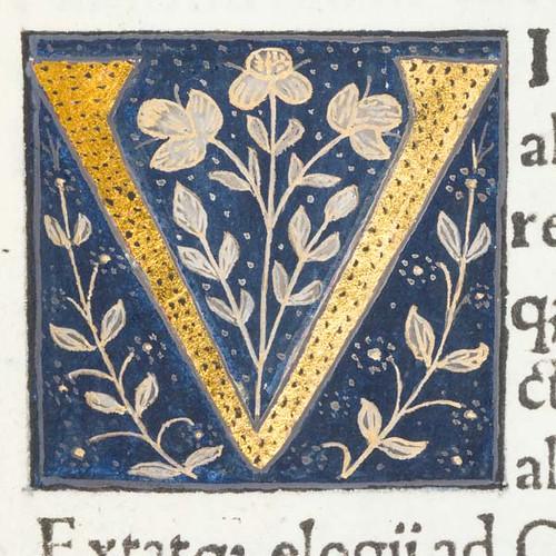 Decorated Initial Quot V Quot In Scriptores Historiae Augustae