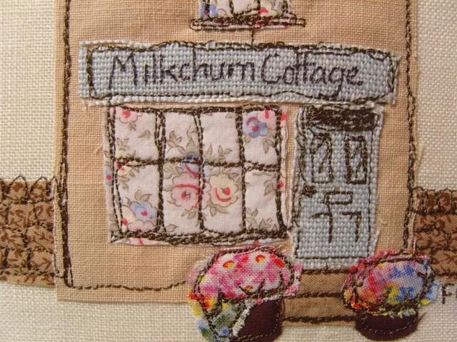 Milkchurn cottage applique little picture of