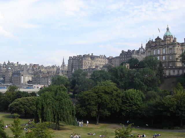 Edinburgh Princes Street Gardens And Old Town The
