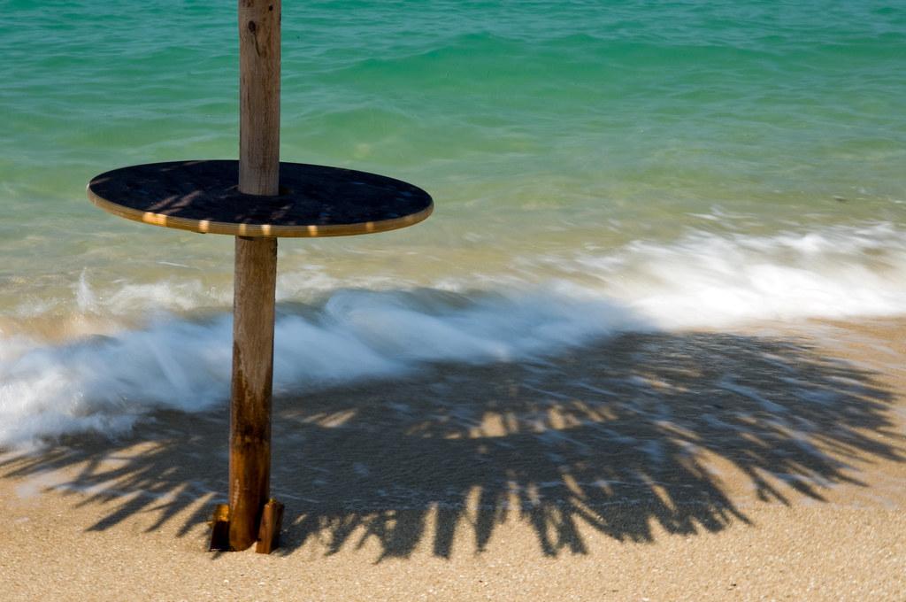 Wooden Table Around Beach Umbrella | Round Wooden Table Halfu2026 | Flickr
