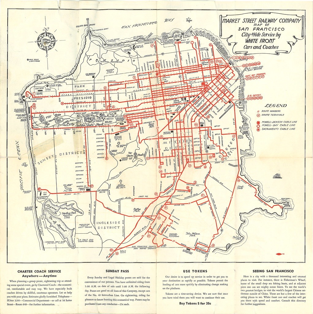 Market Street Railway Company Map Of San Francisco CityW Flickr - San francisco rail map
