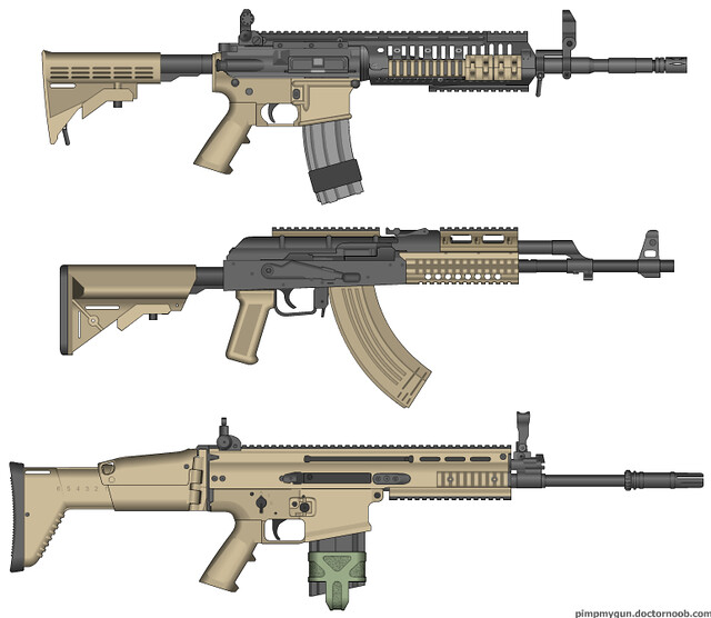 modern warfare 2 m4a1 ak 47 scar h bored and couldnt c flickr