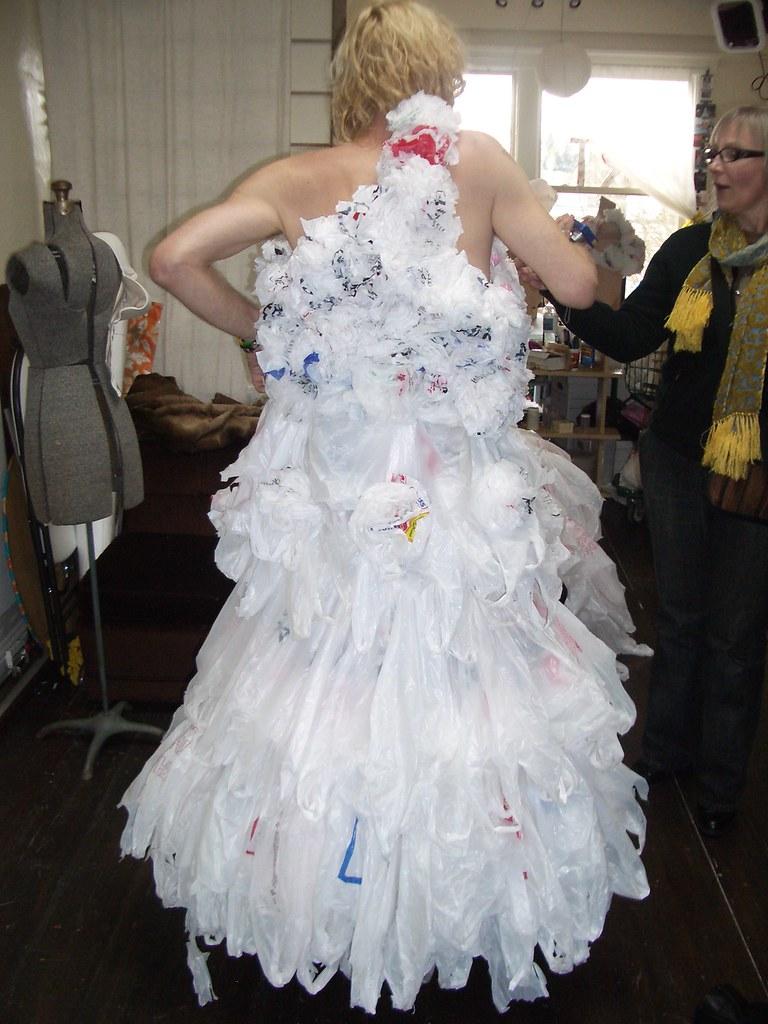 Apologise, but, Plastic bag dresses
