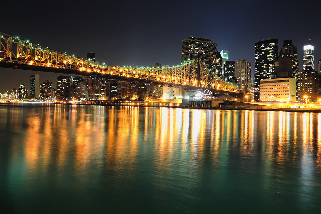 Queensboro 59th Street Bridge And Midtown Manhattan At Night NYC