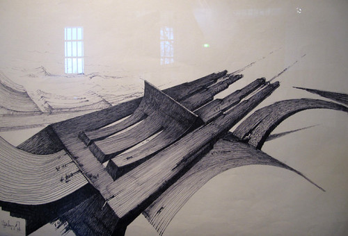 Dessin claude parent de superbes dessins pr paratoires for Architecture utopiste