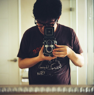 Selfportrait with my Yashica-D | by swanky