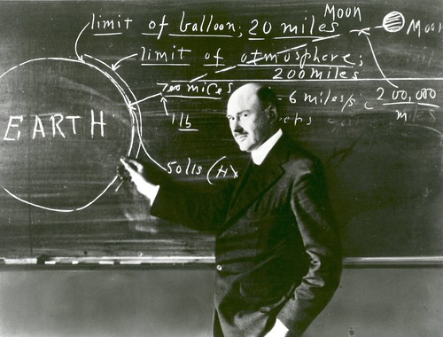 Dr. Robert Goddard at Clark University | by NASA on The Commons