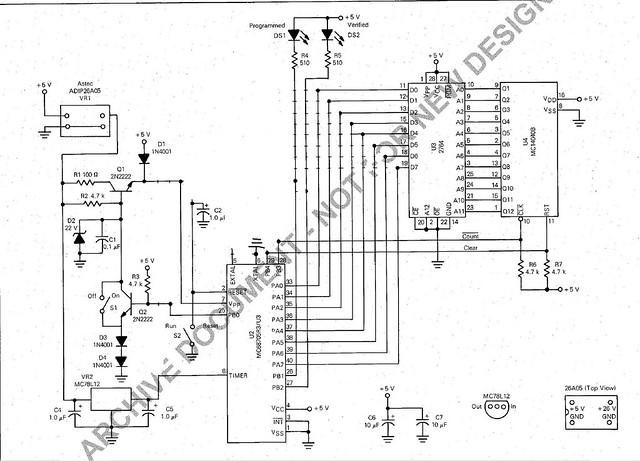 mc68705 programmer circuit