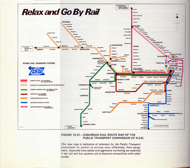 City Rail Map CityRail, err PTC map of the 1970s or 80s | PTC map found on… | Flickr City Rail Map