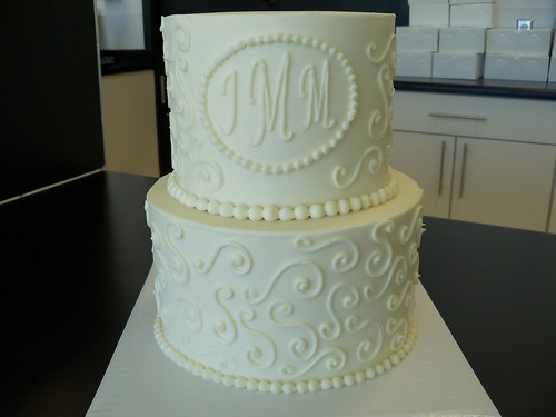 wedding cakes with initials on top swirls initials wedding cake custom cakes require at 26046