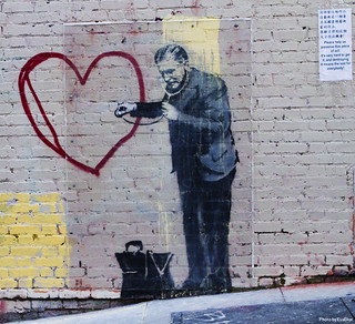 banksy - peaceful hearts doctor - 3 | by Eva Blue