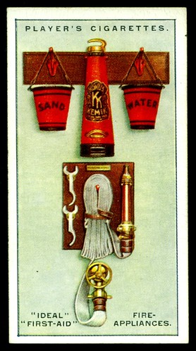 Cigarette Card - First Aid Fire Appliances | by cigcardpix