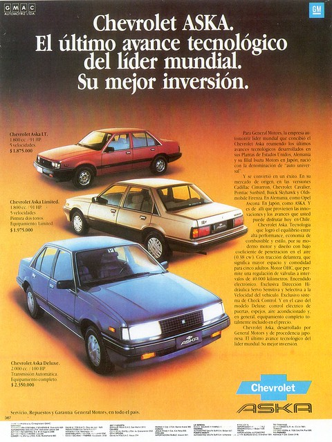 1986 Chevrolet ASKA (Chile)