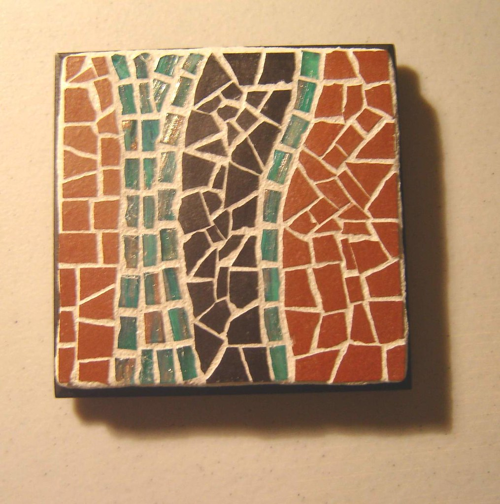 Coaster 2 4 X 4 Unglazed Ceramic Metallic Glass Tile Josh