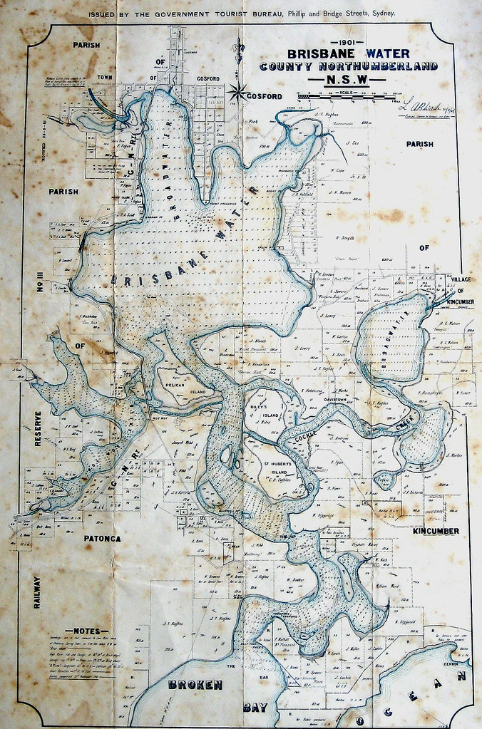 Brisbane Water map 1901 Gostalgia local history from Gosford
