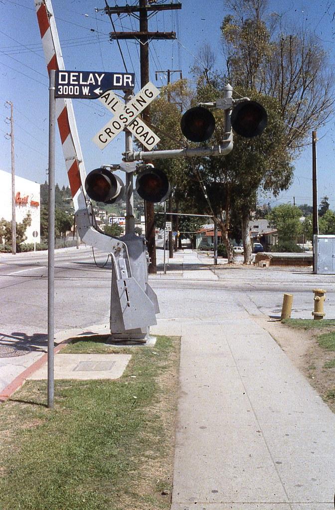 Delay Drive Railroad Crossing At Delay Drive And