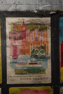 "1959 vintage ""River Thames"" poster found at Notting Hill Gate tube station, 2010 