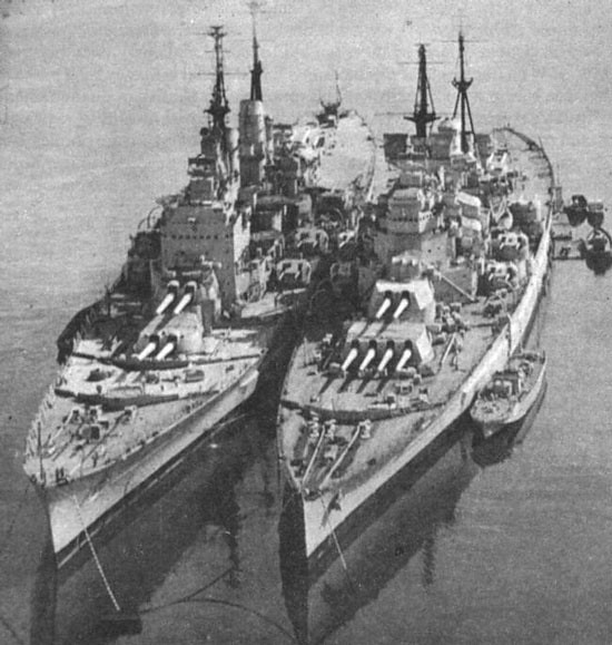 C 17 On Aircraft Carrier HMS Vanguard and HMS H...