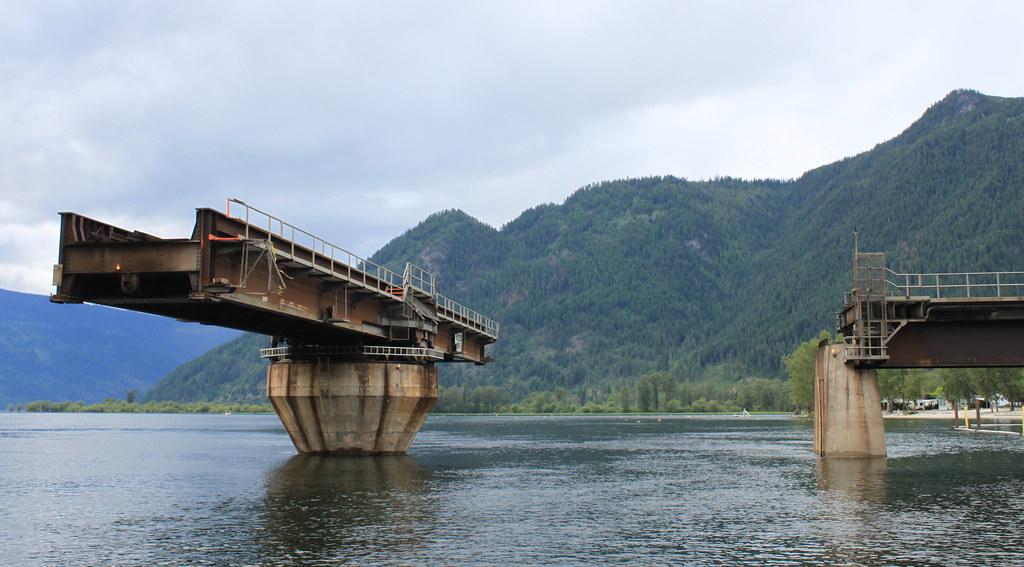 The Sicamous Narrows Swinging Rail Bridge Sicamous Bc